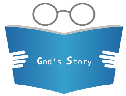 God's Story blue book eye glasses