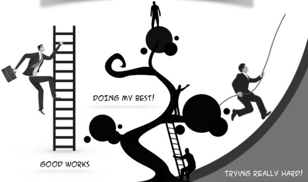 illustrate good works try hard etc