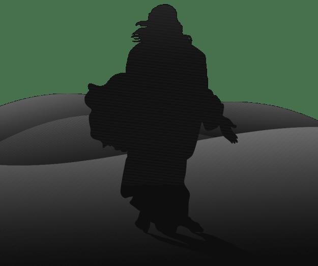 prophet desert sands silhouette BW