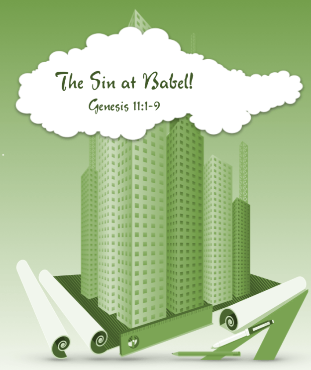 sin at Babel front building plans green