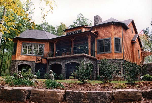 Craftsman style hillside house plan family home plans blog for Hilltop home designs