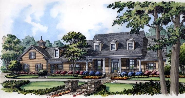 New colonial cape cod house plan family home plans blog for Colonial cape cod house plans