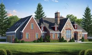 New European House Plan