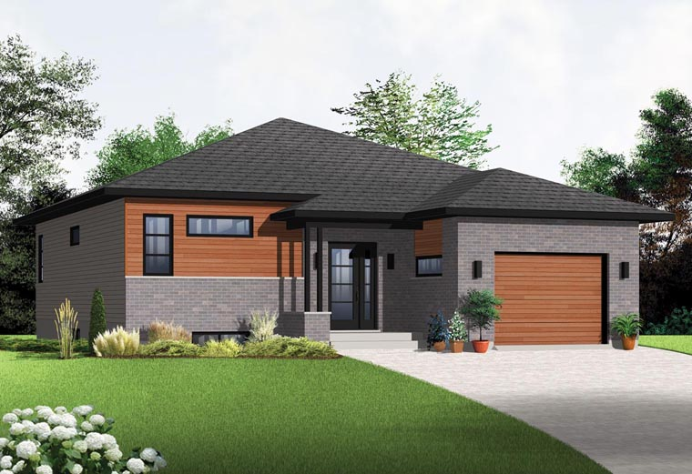 Modern House Plan 1283 SQ FT