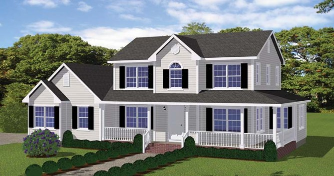 New Traditional Style House Plans