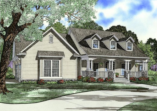 4 Bedroom Traditional Style House Plans