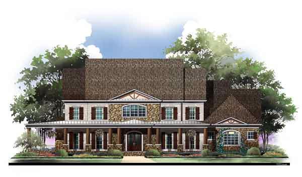 3 Bedroom Colonial Luxury House Plan