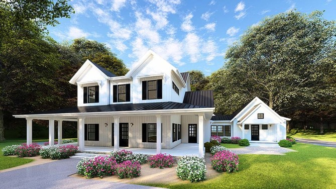 New 4 Bedroom Modern Farmhouse Plan