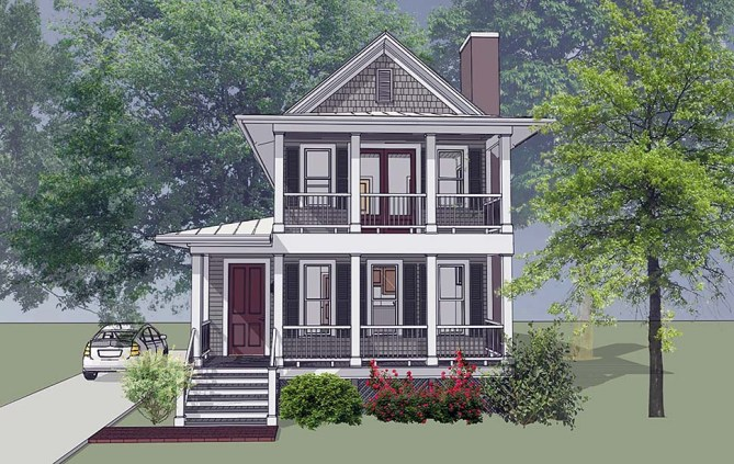 Narrow Lot Home Plans With 24′ Width