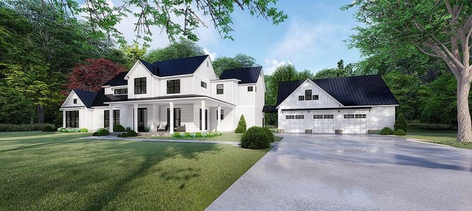 Modern 4 Bedroom Farmhouse Plan