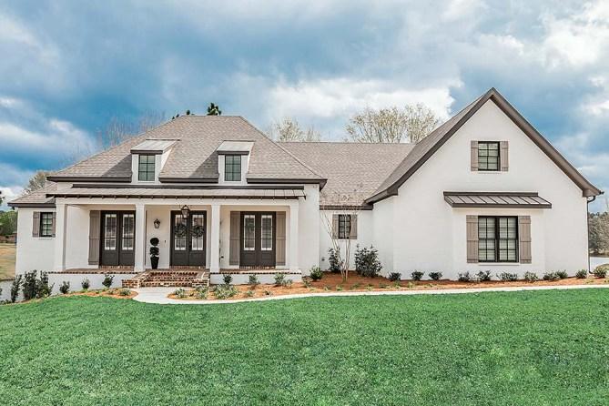 New French Country Home Plan With Interior Pictures