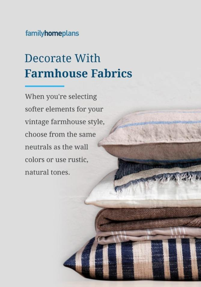 Decorate With Farmhouse Fabrics