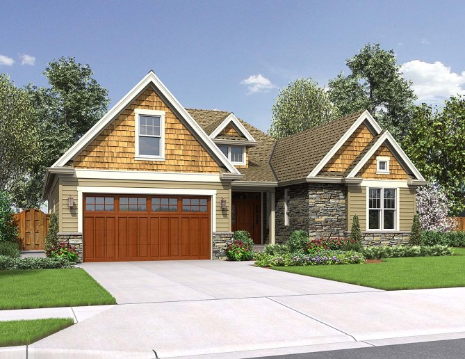 New 4 Bedroom Craftsman Style House Plan