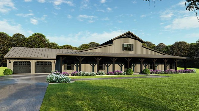 5 Bedroom Barn Style House Plan