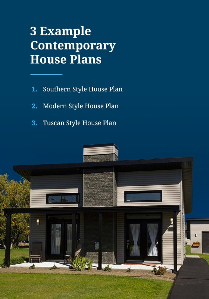 Example Contemporary House Plans