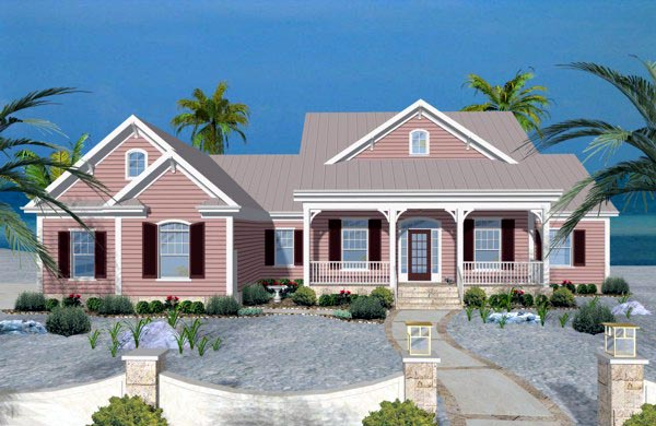 3 Bedroom Beach House Plan With Recreation Room