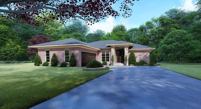 4 Bedroom Contemporary House Plan With Grilling Porch
