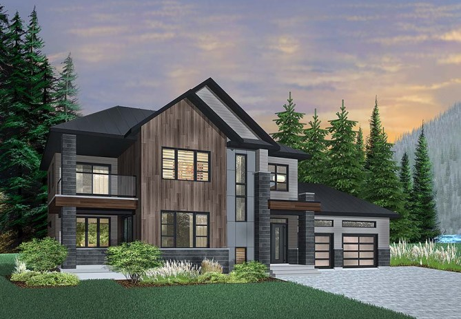 3 Bedroom Contemporary Style House Plan With 2164 Sq Ft