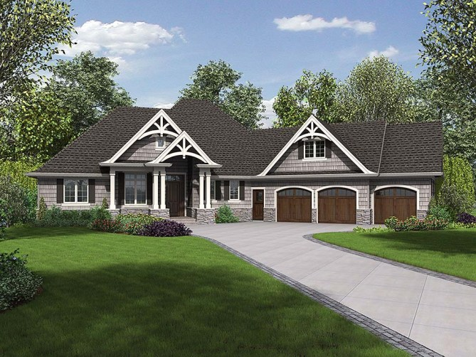 2300 SQ FT Craftsman Style House Plan With Outdoor Living Space