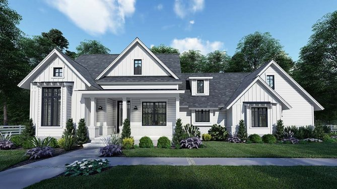 Southern Style House Plan With Outdoor Living and Bonus Space