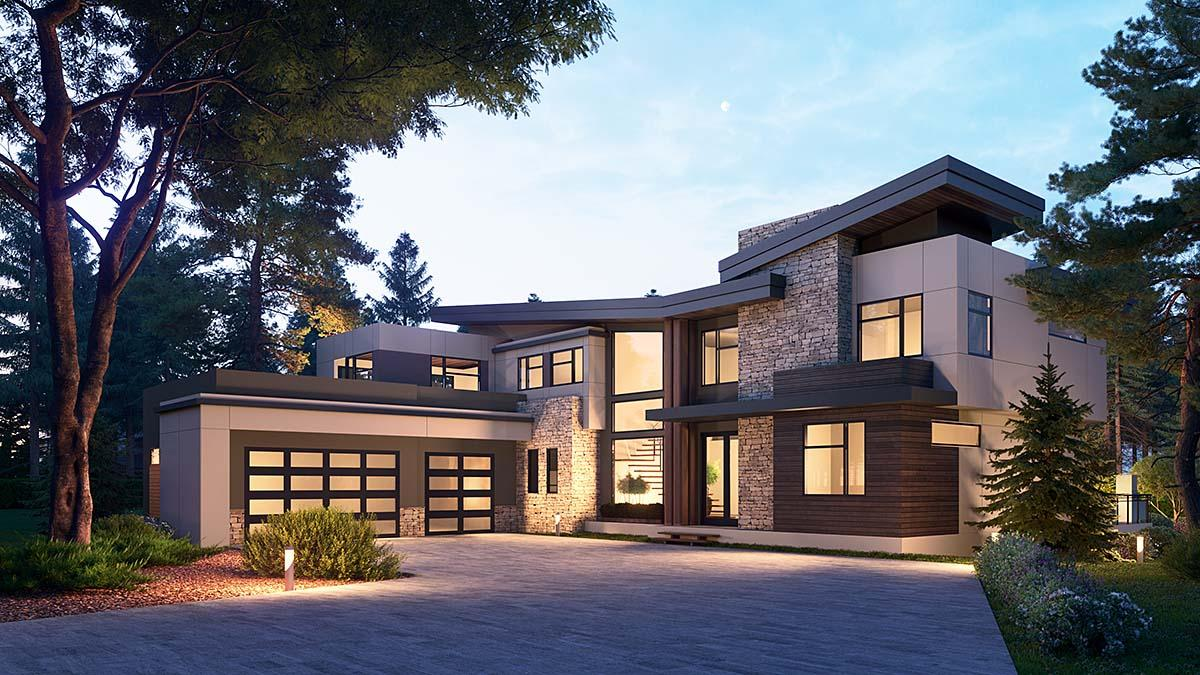 10 Bedroom Modern House Plan With Covered Deck - Family Home Plans Blog