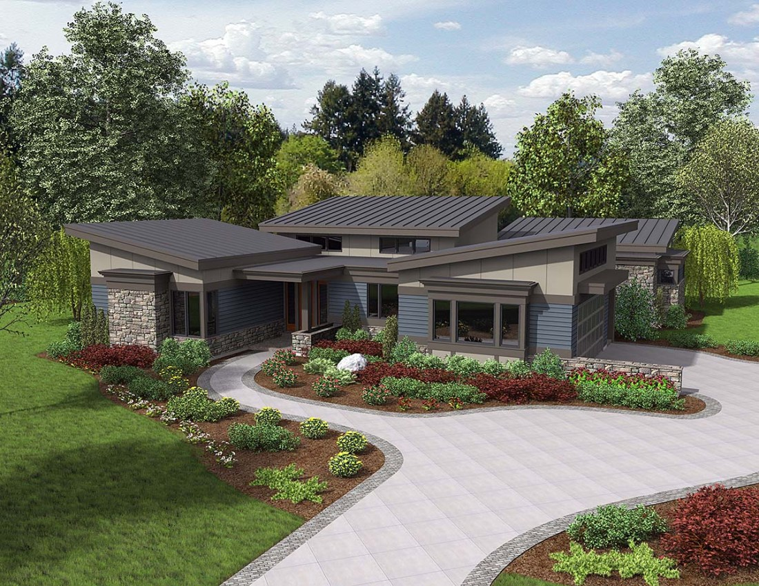 One-Story Modern House Plan
