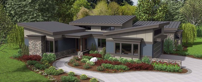 One-Story Modern House Plan