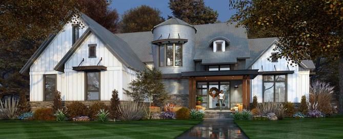 Farmhouse Plan With Silo