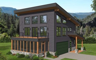 Modern Garage Apartment Plan