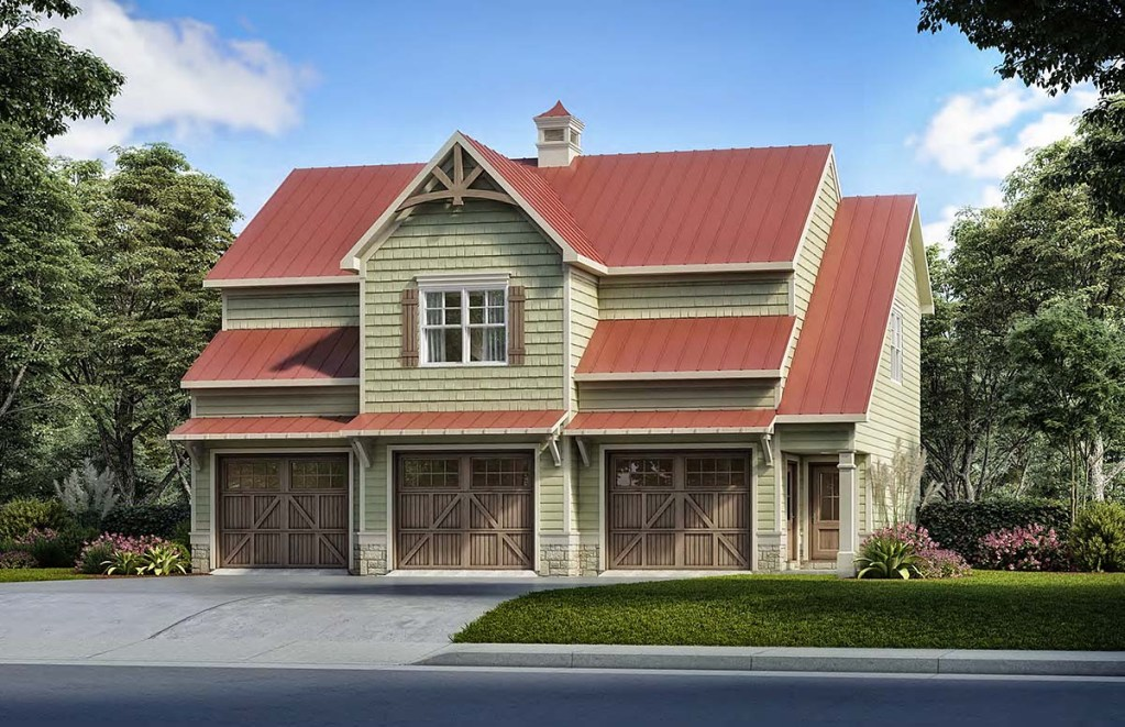 Farmhouse Style Garage Apartment Plan