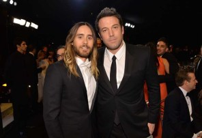 Jared Leto in Dior and Ben Affleck