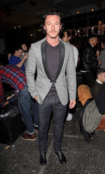 LONDON, ENGLAND - JANUARY 07: Luke Evans attends the Superdry AW14 after party as part of London Collections: Men at The Old Sorting Office on January 7, 2014 in London, England. (Photo by David M. Benett/Getty Images for Superdry) *** Local Caption *** Luke Evans