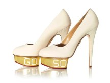 'Go So; So Go', 2014, Ed Ruscha, Charlotte Olympia for Stepping Up For Art. Photographer Liam Goodman