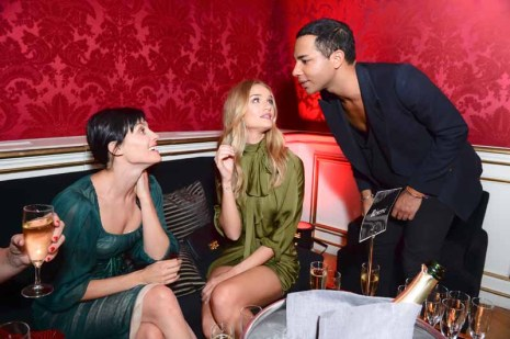 Olivier Rousteing, Rosie Huntington-Whiteley, Tabitha Simmons