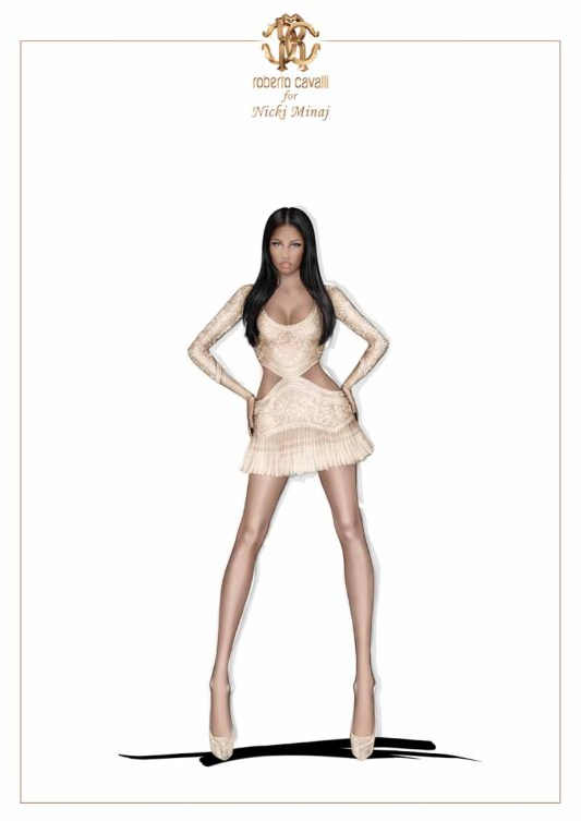 Nicki Minaj in Roberto Cavalli (2)
