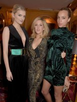 LONDON, ENGLAND - MARCH 16: Lily Donaldson, Ellie Goulding and Phoebe Collings-James attend the dinner, hosted by Olivier Rousteing, to mark the opening of Balmain's first London store, at Annabel's on March 16, 2015 in London, England. (Photo by David M. Benett/Getty Images for Balmain) *** Local Caption *** Lily Donaldson; Ellie Goulding; Phoebe Collings-James