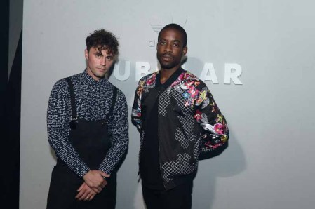 PARIS, FRANCE - JUNE 25: Mikky Ekko and Ugo Mozie attend the Adidas Originals Tubular Paris Fashion Week Performance on June 25, 2015 in Paris, France. (Photo by Dominique Charriau/Getty Images) *** Local Caption *** Mikky Ekko; Ugo Mozie