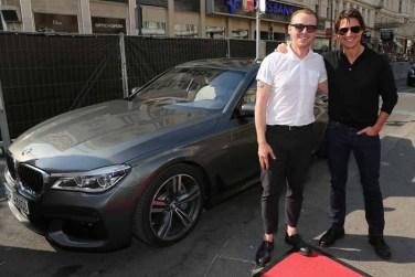 Simon Pegg and Tom Cruise