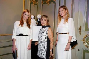 BERLIN, GERMANY - JULY 08: Johanna Ku¨hl, Jeannie Schulz and Alexandra Fischer-Roehler attend the Snoopy & Belle Vernissage at Mercedes-Benz Fashion Week Berlin Spring/Summer 2016 at Ermelerhaus on July 08, 2015 in Berlin, Germany. (Photo by Franziska Krug/Getty Images for SBIFBERLIN)
