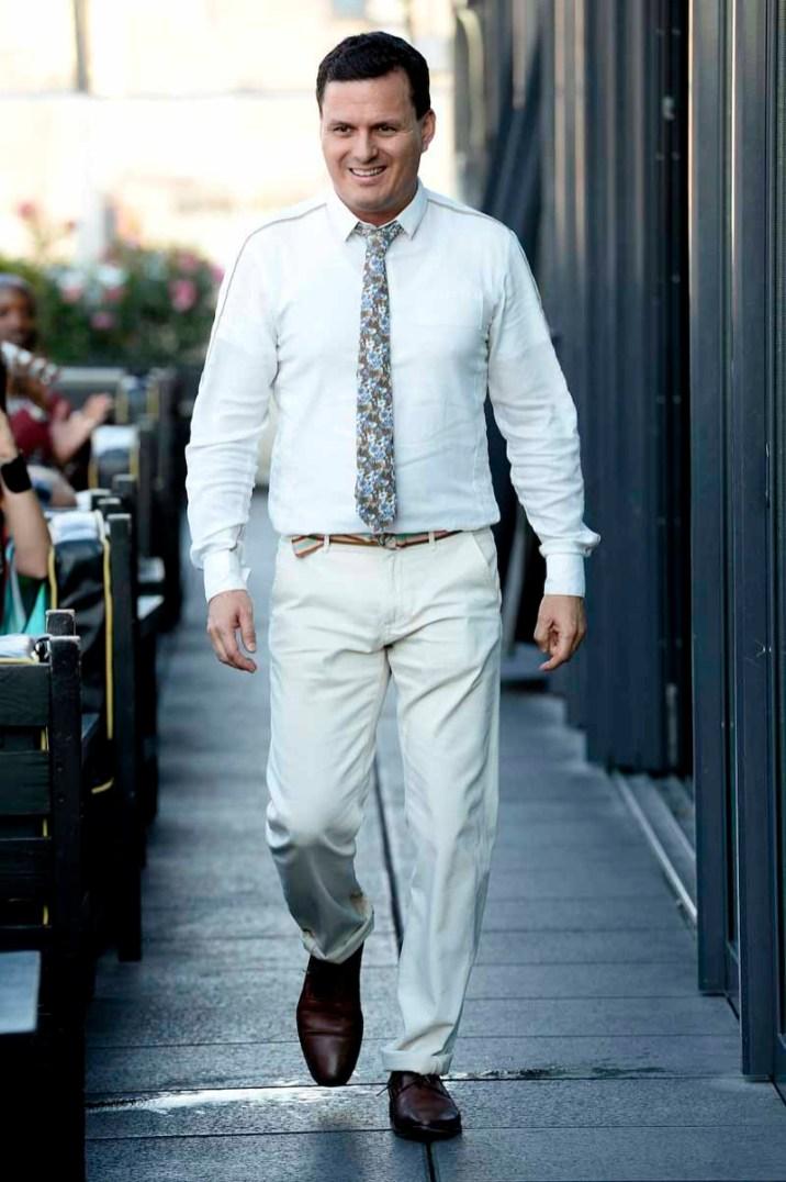 Sergio Davila on the catwalk