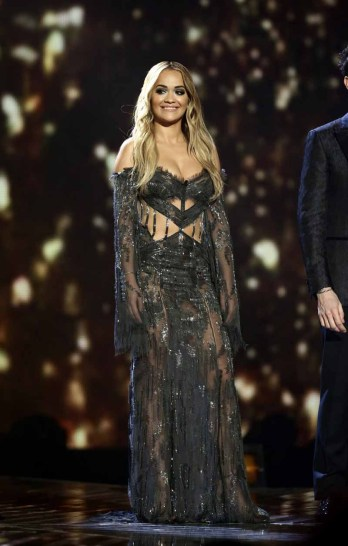 *** MANDATORY BYLINE TO READ: Syco / Thames / Corbis *** The X Factor Series Finals, London, United Kingdom - 13 December 2015 Pictured: Rita Ora Ref: SPL1195643 131215 Picture by: Syco/Thames/Corbis/Dymond