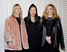 LOS ANGELES, CA - JANUARY 13: (L-R) Musician Kim Gordon, designer Carol Lim, and actress Natasha Lyonne attend the Galvan For Opening Ceremony Dinner Hosted By Swarovski at Private Residence on January 13, 2016 in Los Angeles, California. (Photo by Donato Sardella/Getty Images for Galvan)