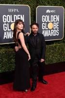 Golden Globe presenter Johnny Galecki and Alaina Meyer