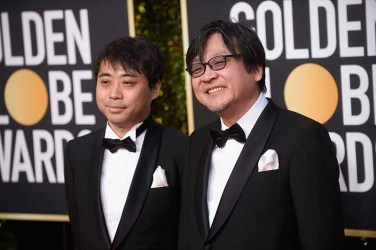 Yuichiro Saito and Golden Globe nominee Mamoru Hosoda attend the 76th Annual Golden Globe Awards at the Beverly Hilton in Beverly Hills, CA on Sunday, January 6, 2019.