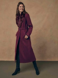 Long Tall Sally Midi Coat with detachable collar