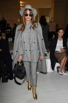 MILAN, ITALY - FEBRUARY 21: Zeynab El-helw attends the Max Mara show during Milan Fashion Week Fall/Winter 2019/20 on February 21, 2019 in Milan, Italy. (Photo by Daniele Venturelli/Daniele Venturelli/ Getty Images for Max Mara)
