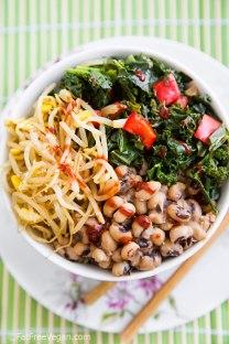 Korean-Inspired Black-eyed Pea & Kale Bowl