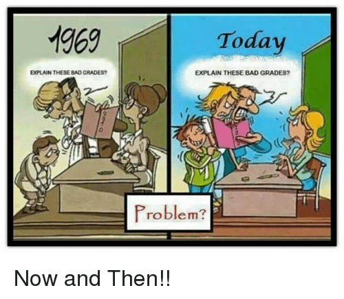Hnadling school problems then and now
