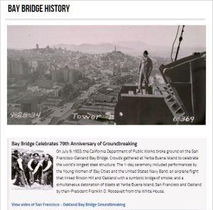 Bay Bridge Celebrates 79th Anniversary of Groundbreaking