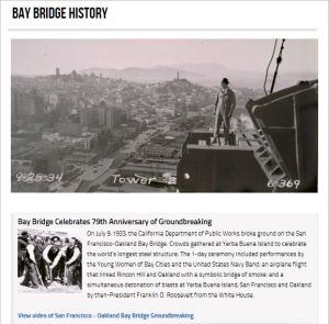 Bay Bridge Celebrates 79th Anniversary of Groundbreaking